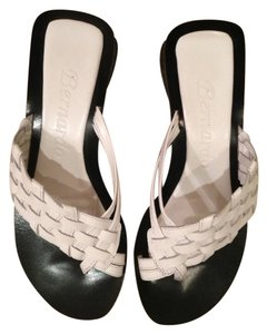 Bernardo Leather Made In Brazil White Sandals