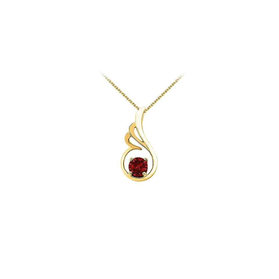 Red yellow july birthstone ruby pendant gold vermeil with free chain marco b july birthstone ruby pendant gold vermeil with free chain best price aloadofball Gallery