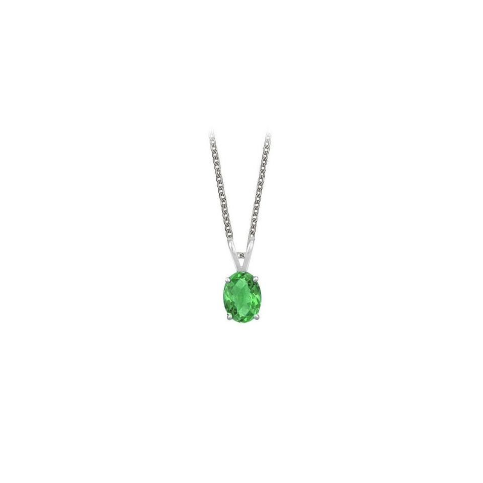 Green silver oval shaped created emerald pendant sterling 1ctt marco b oval shaped created emerald pendant necklace in sterling silver aloadofball Choice Image