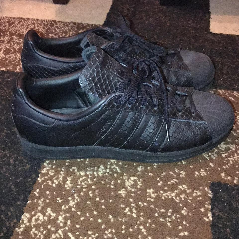 adidas Black Shell Toe Sneakers Size US 10 Regular (M bcf858bc4