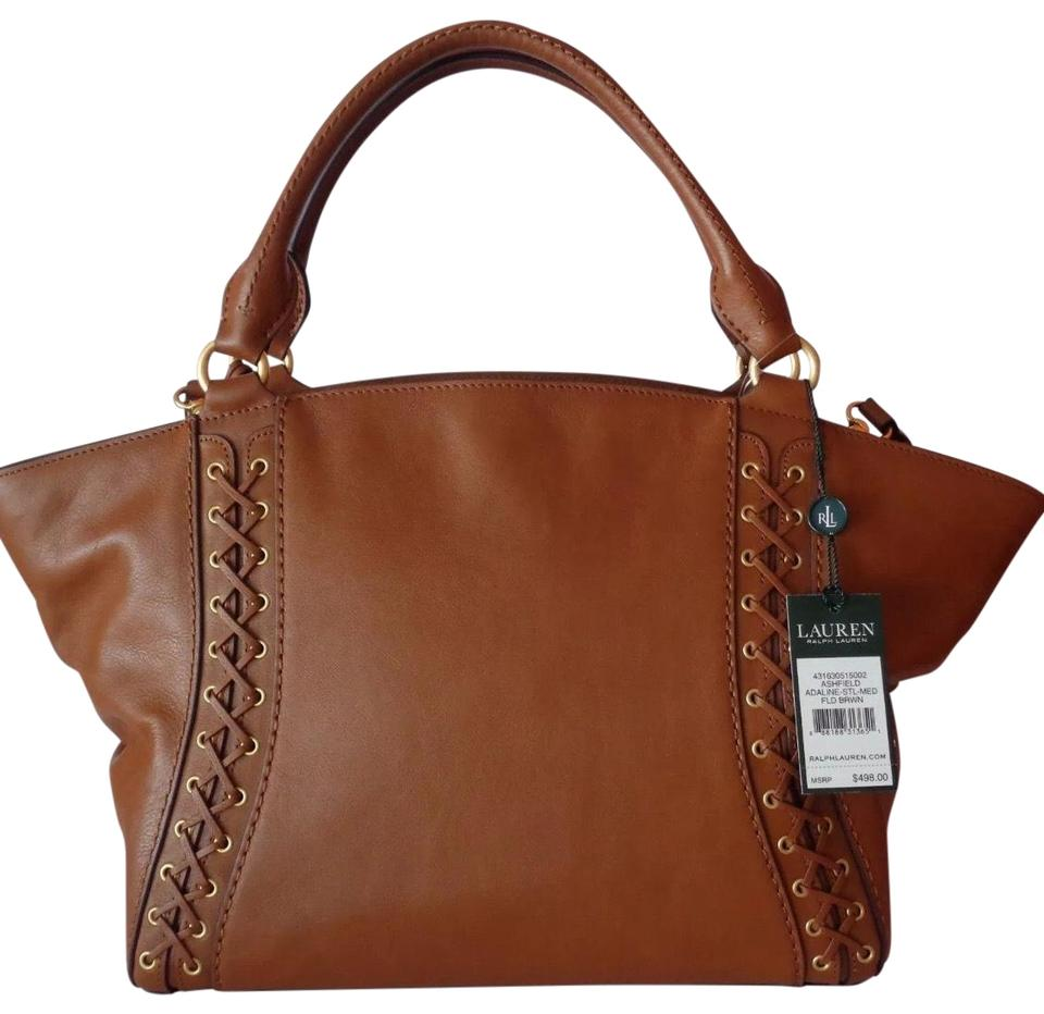 bccad00893 1c51c d3ebd  official lauren ralph lauren ashfield handbag brown leather  satchel a7db5 0c159