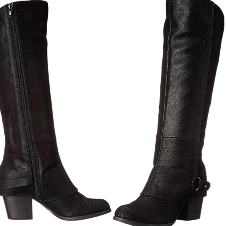 6bcc92125475 Fergalicious by Fergie Black Tall Lexy Boots Booties Size US 8.5 ...