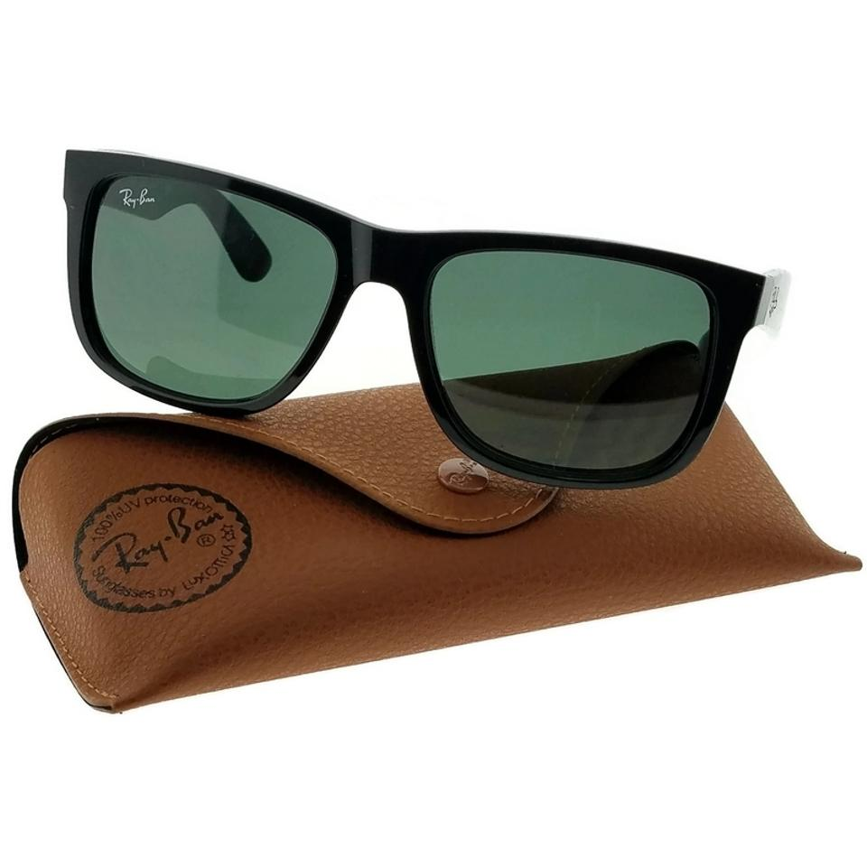 34a888fe87a Ray-Ban Black Frame Rb4165-601-71 Justin Unisex Green Lens Sunglasses -