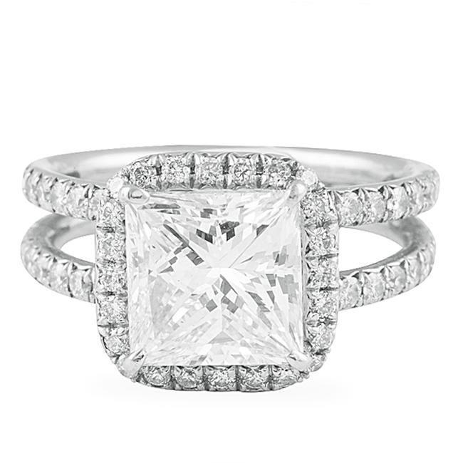 Diana M White Handcrafted and Gia Certified 4.40carats Diamond Engagement Ring Diana M White Handcrafted and Gia Certified 4.40carats Diamond Engagement Ring Image 1