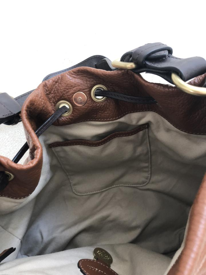 Brown Bag Hobo Natural Leather Camel Grain Mulberry Drawstring qa0AxBwWt