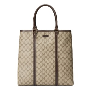 Gucci Business Travel Canvas Tote in Beige/Brown