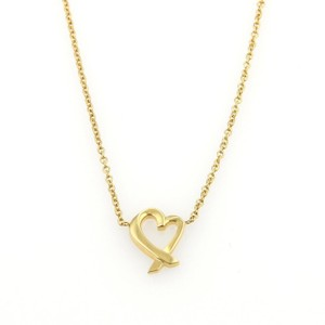 Tiffany & Co. 16423 - Picasso 18k Yellow Gold Mini Loving Heart Pendant