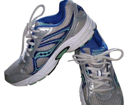 Preload https://item4.tradesy.com/images/saucony-silver-blue-green-sneakers-size-us-7-regular-m-b-2243663-0-0.jpg?width=440&height=440