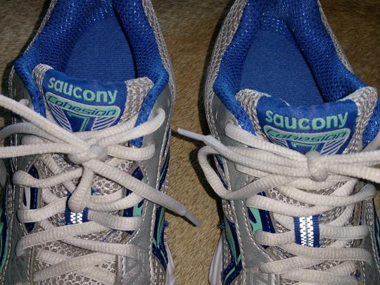 Saucony silver, blue green Athletic