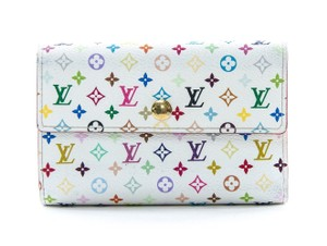 Louis Vuitton Louis Vuitton Multicolor Alexandra Wallet White