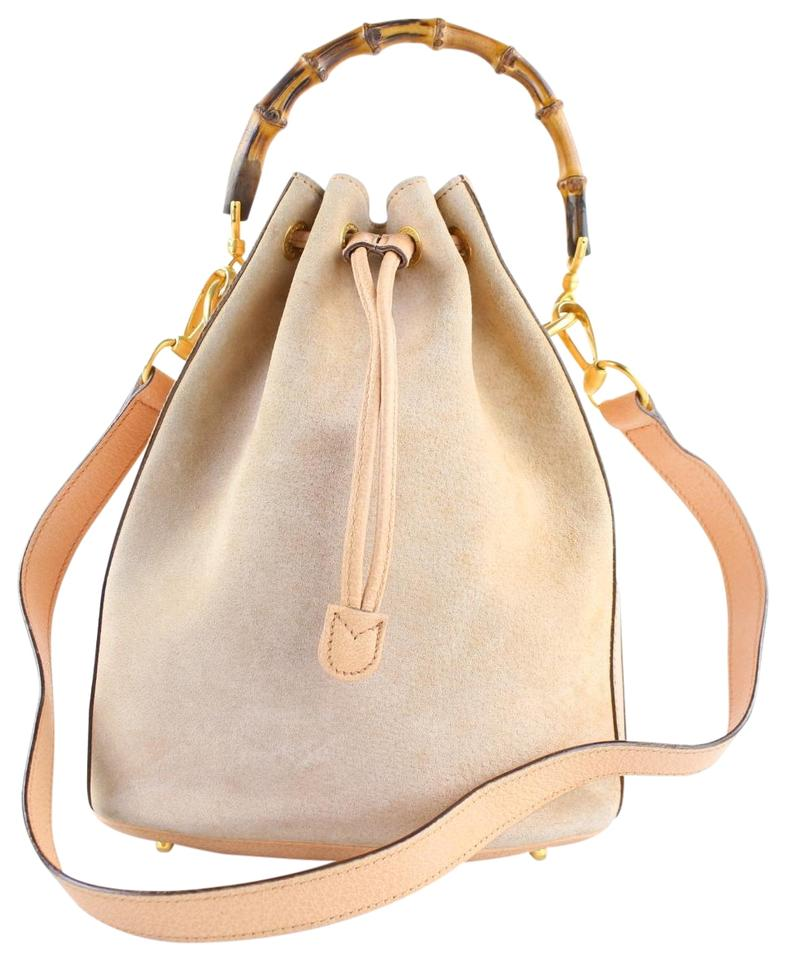 21e7159cd61 Gucci Bamboo 2way 222895 Pink Suede Leather Hobo Bag - Tradesy