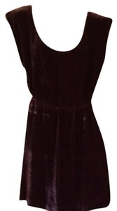 J.Crew short dress Burgundy on Tradesy