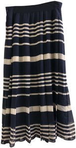 Madewell Maxi Skirt Navy, White