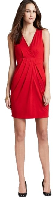 Preload https://item4.tradesy.com/images/three-dots-red-jersey-pleated-above-knee-short-casual-dress-size-12-l-2243698-0-0.jpg?width=400&height=650