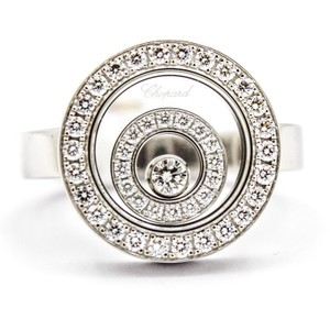 Chopard Chopard Happy Spirit 18k White Gold Ring with Floating Diamonds