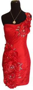 Terani Couture Evening One Shoulder Dress