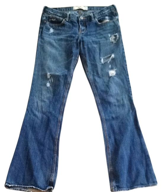 Hollister Flare Leg Jeans-Distressed