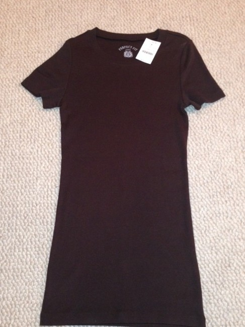 J.Crew Perfect Fit 100% Cotton T Shirt Brown
