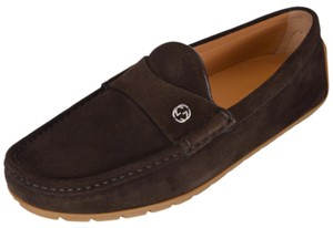 Gucci Loafers Men's Suede Brown Flats
