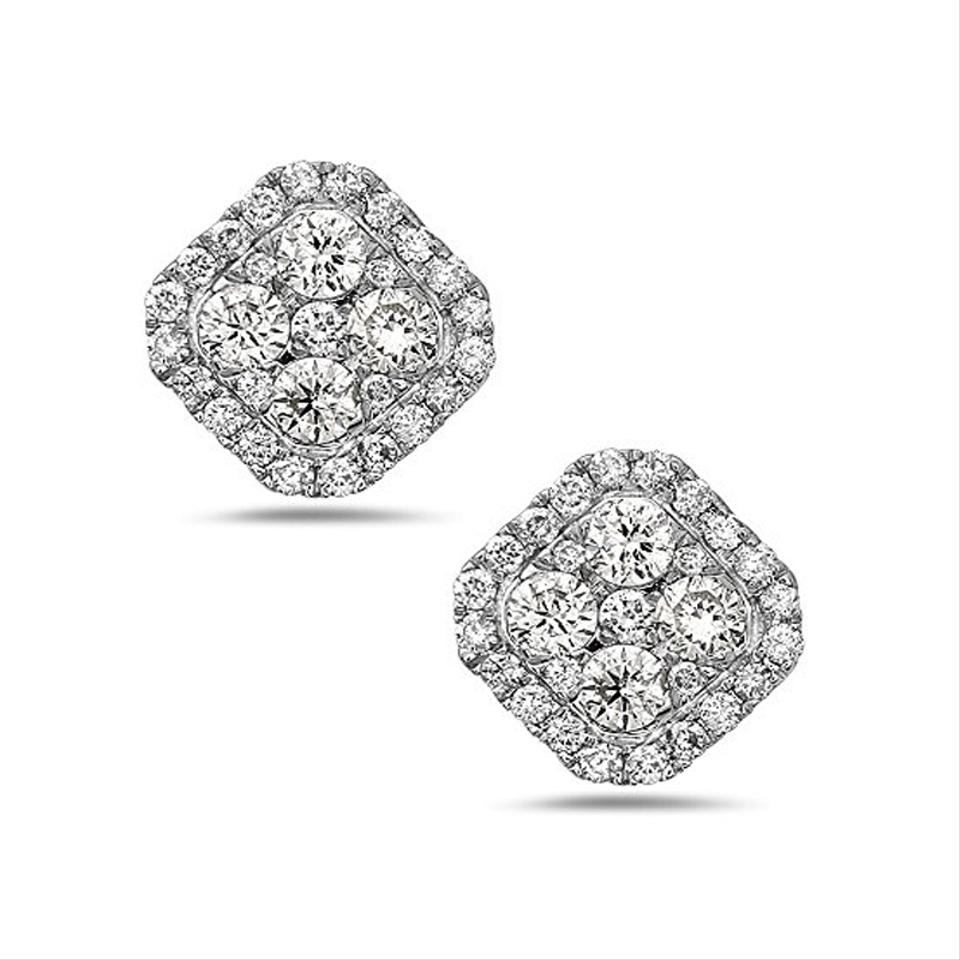 diamond light kors color sapphire crush tone and silver crushed michael earrings stud