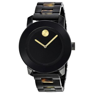 Movado Bold Mid-size Black Dial Men's Watch