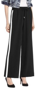 Alice + Olivia Wide Leg Pants Black / White