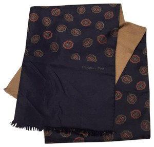 Dior Christian Dior vintage silk and wool paisley scarf