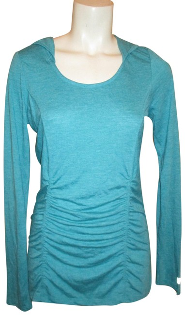 Item - Blue Green Hooded Activewear Top Size 4 (S, 27)