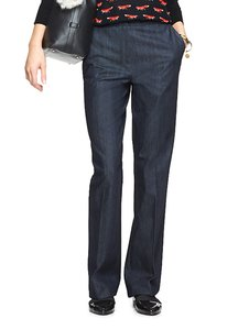 Kate Spade Trouser Denim Flare Leg Jeans-Dark Rinse