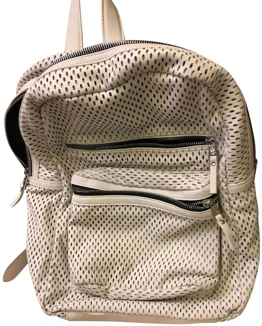 Item - Perforated Full Purse White Leather Backpack