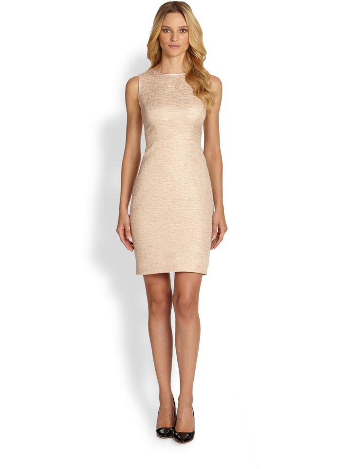 Kate Spade Blush Metallic Della Short Cocktail Dress Size 00 (XXS ...