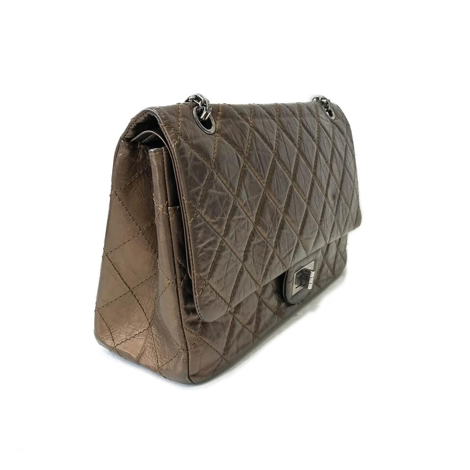 9353950a5e0c Chanel Classic Flap 2.55 Reissue Quilted Classic Double (Size 227) Bronze  Calfskin Leather Shoulder Bag - Tradesy