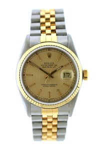 Rolex 36MM ROLEX DATEJUST GOLD S/S WATCH