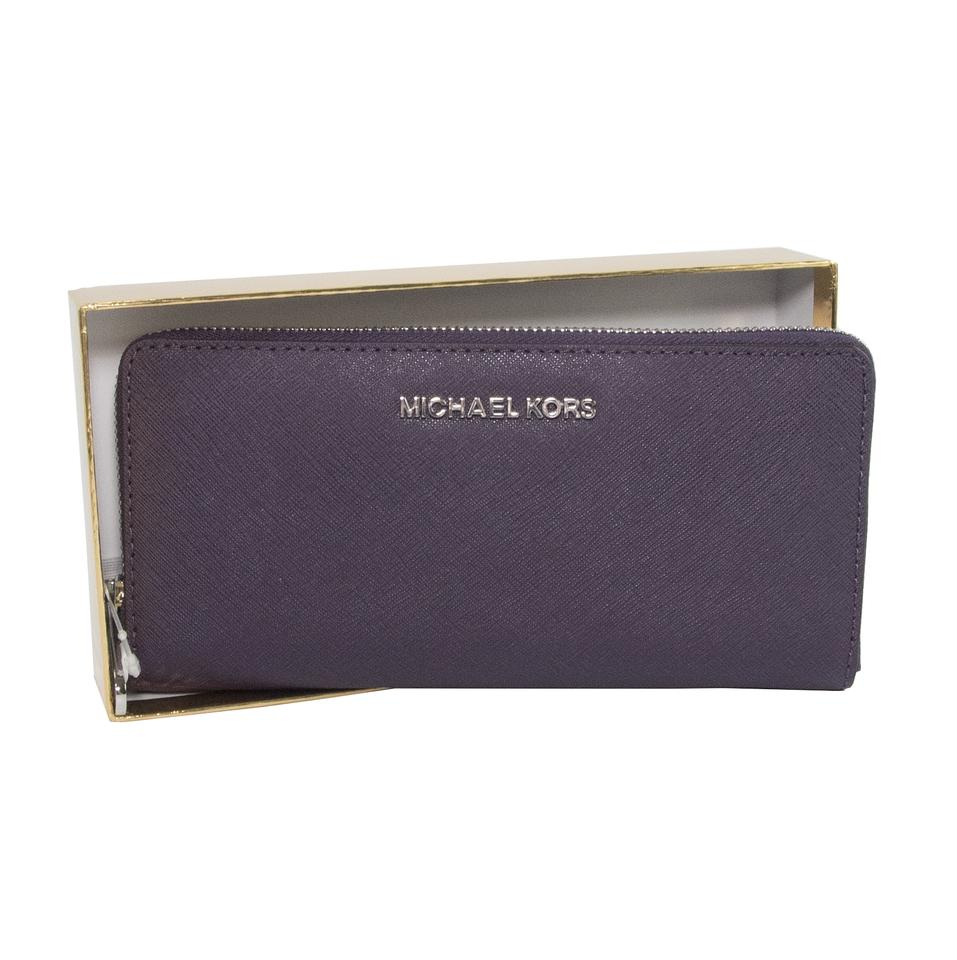 57e5f1164f20 ... Light Purple Michael Kors wallet Michael Kors Purple Saffiano Leather  Zip Around Continental Travel Wallet NWT .