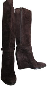 Boss by Hugo Boss Suede Wedge Brown Boots
