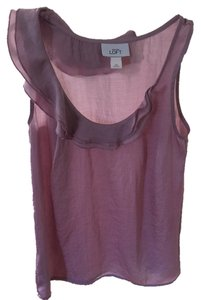 Ann Taylor LOFT Rose Textured Top Pink
