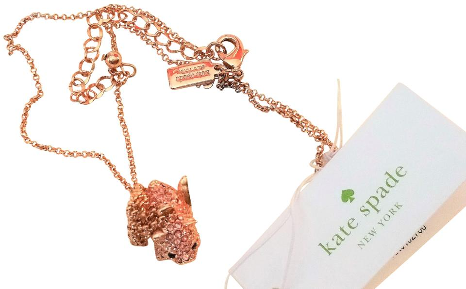 Kate spade rose gold imagination flying pig pendant necklace tradesy pig pendant necklace 1234567 mozeypictures Gallery