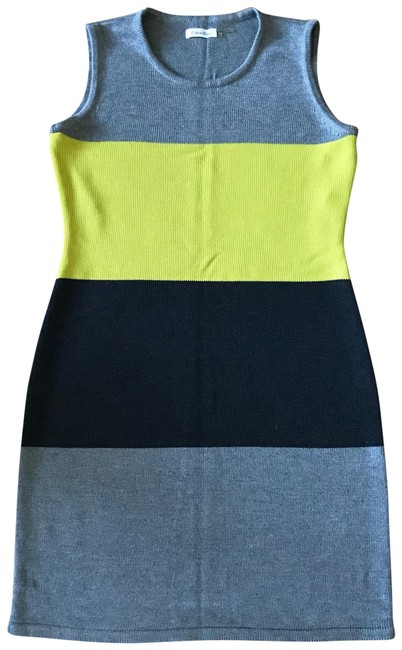 Preload https://img-static.tradesy.com/item/22439230/calvin-klein-grey-black-and-yellow-mid-length-workoffice-dress-size-8-m-0-1-650-650.jpg