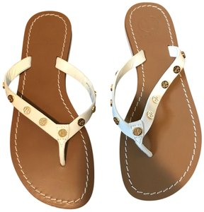 Tory Burch Thong Flip Flop Grommet White Sandals