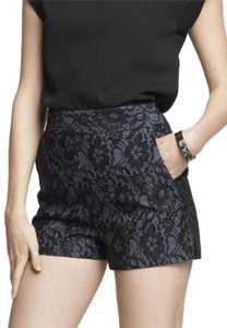Express High Waist Lace Mini/Short Shorts blue