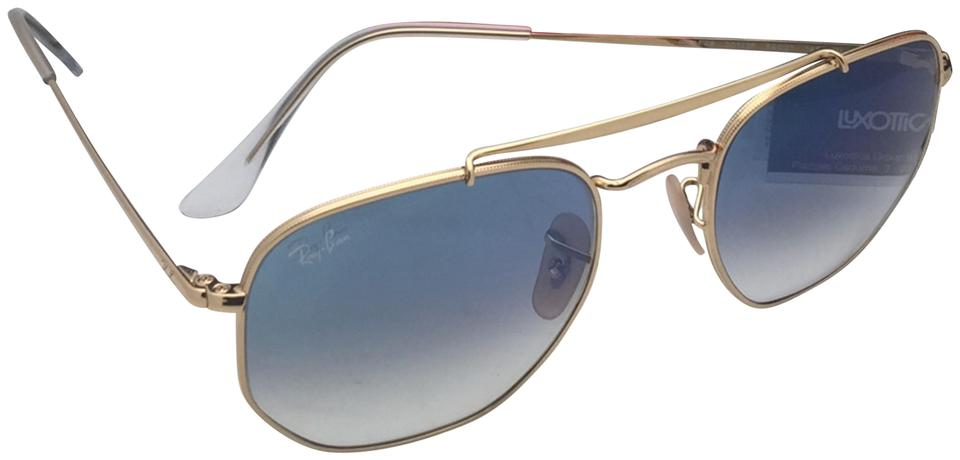 f078a36151 Ray-Ban New Rb 3648 001 3f 54-21 145 Gold Aviator W  Blue Gradient ...