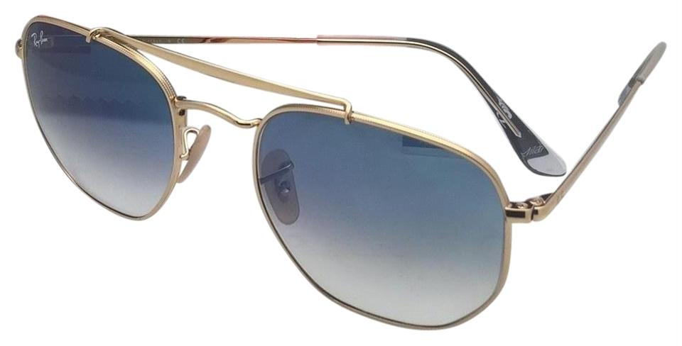 7d660235f1 Ray-Ban New Rb 3648 001 3f 51-21 145 Gold Aviator W  Blue Gradient ...