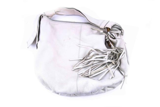 Item - Cream Leather Hobo Bag
