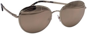 Chanel Chanel Round 18K Gold Mirrored Sunglasses 4206 MADE IN ITALY