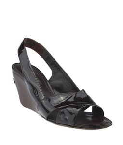 Louis Vuitton Patent Leather Burgundy Sandals