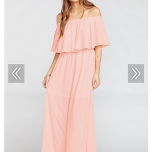 Show Me Your Mumu Dusty Pink Crisp Polyester Hacienda Destination Bridesmaid/Mob Dress Size 8 (M)