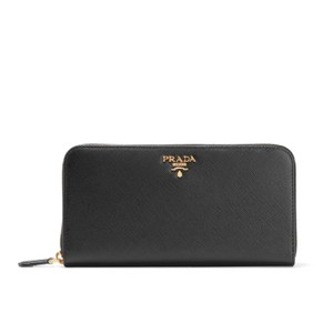 Prada Prada Saffiano leather continental zip around wallet