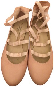 Anniel Classic Leather Soles Leather Ballet Pale Pink Flats