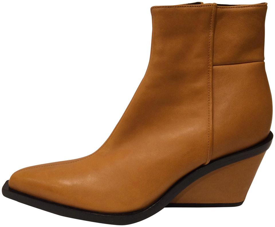 f68dc1cc3ba3 Rag   Bone Tan New Santiago Wedge Leather Ankle Boots Booties Size ...