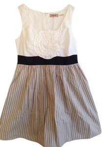 Anthropologie short dress Ivory, Khaki Cotton on Tradesy